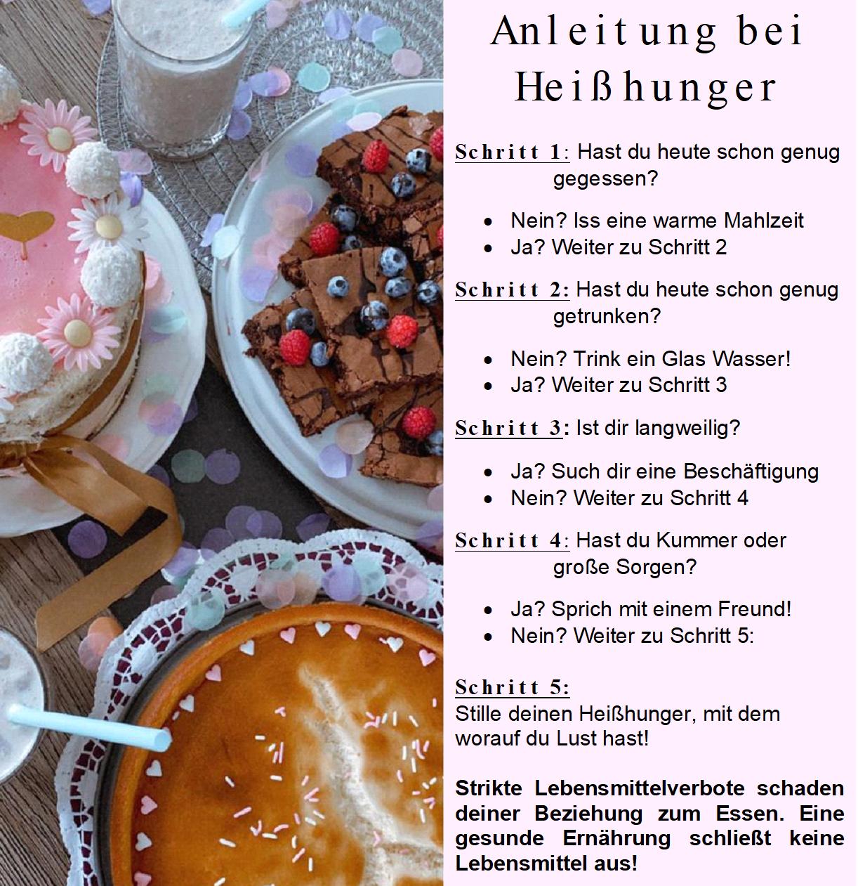 Anleitung bei Heißhunger